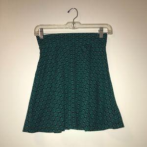 Black and Green Skirt